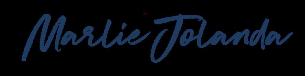 Marlie Jolanda written in cursive